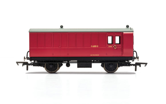 Hornby R40080 BR 4 Wheel Coach Brake Baggage E210E