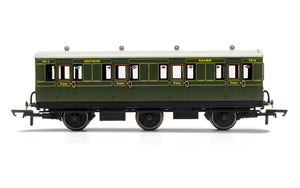 PRE-ORDER Hornby R40131 SR 6 Wheel Coach 1st Class 7514 WITH LIGHTS