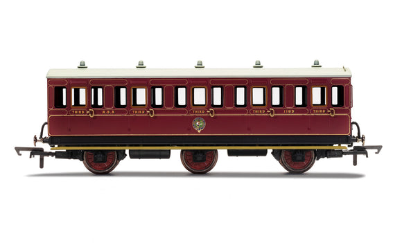 Hornby R40136 NBR 6 Wheel Coach 3rd Class 1169 WITH LIGHTS