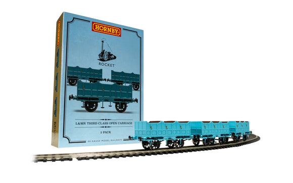 Hornby R40102 Open Carriage Pack Triple Pack (Stephensons Rocket)