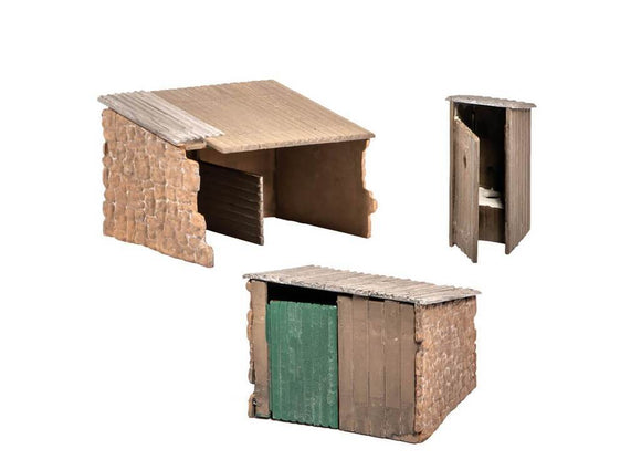 Wills SS19 Grotty Huts (2) & Privy OO Scale Plastic Kit