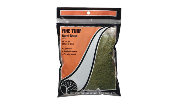Woodland Scenics T44 Burnt Grass Fine Turf Bag