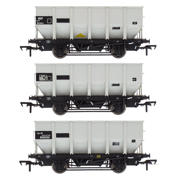 Accurascale BR 24.5T HOP24/HUO Coal Hopper - Grey pre TOPS- Pack N