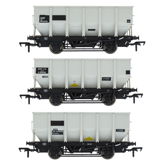 Accurascale BR 24.5T HOP24/HUO Coal Hopper - Grey pre TOPS- Pack P