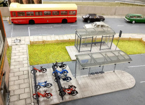 Gaugemaster GM423 Fordhampton Bus Shelters OO Scale Plastic Kit