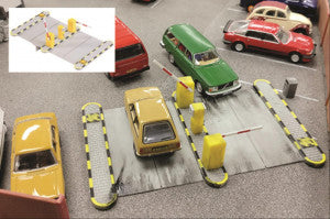 Gaugemaster GM428 Fordhampton Car Park OO Scale Plastic Kit