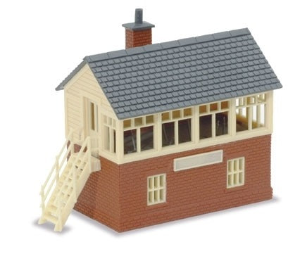 PECO NB-3 Traditional Signal Box (Brick/Timber Type) N Scale Plastic Kit