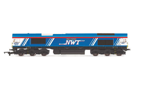 Hornby R3940 GBRf/Newell & Wright, Class 66, Co-Co, 66747 'Made in Sheffield'