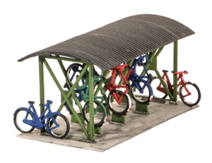 Wiils SS23 Bicycle Shed & Bikes OO Scale Plastic Kit