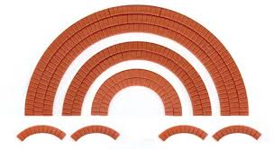 Wills SS55 Brick Arch Overlays OO Scale Pastic Kit