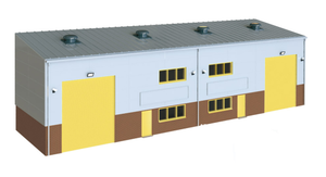 Wills Modern SSM300 Industrial/Retail Unit Base Kit OO Scale Plastic Kit