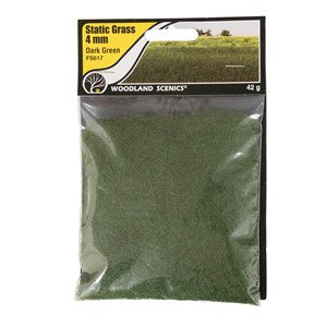 Woodland Scenics WFS617 4mm Static Grass Dark Green