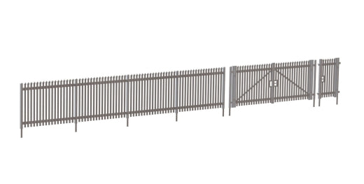 Wills Modern SSM316 Modern Palisade Fencing With Gates OO Scale Plastic Kit