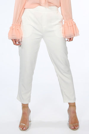 TAILORED ANKLE GRAZERS PANTS