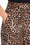 Palazzo Animal Print Wide Leg Trouser