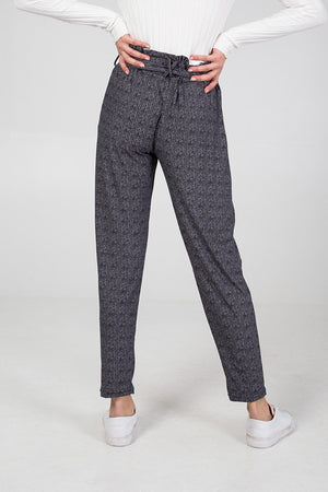 Herringbone Tie Waist Trousers