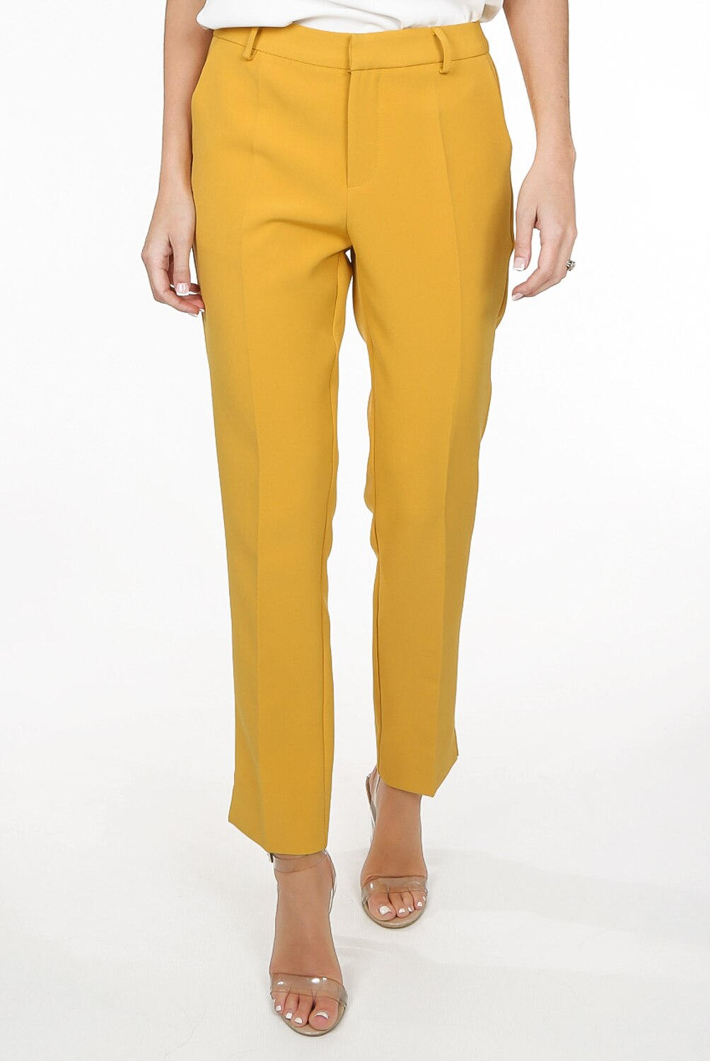 TAILORED ANKLE SLIT TROUSER