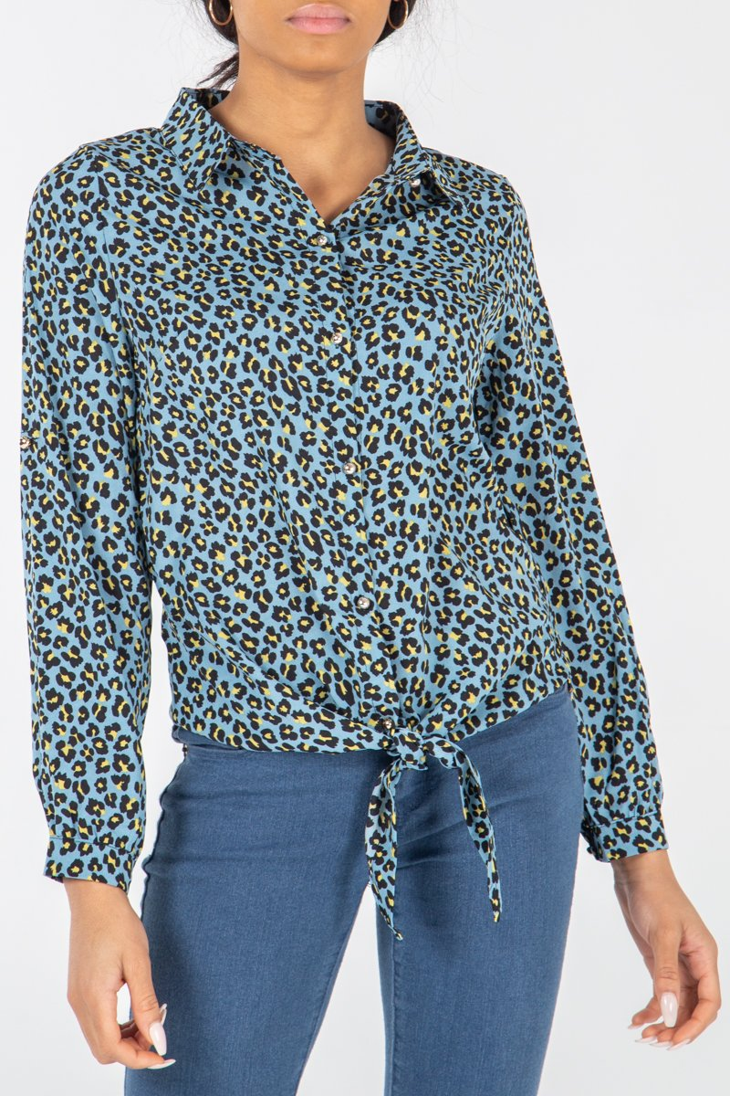 TIE FRONT BUTTON SHIRT