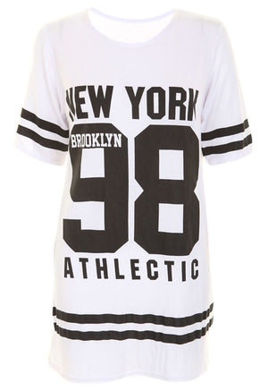 WHITE NEW YORK 98 OVER SIZE T-SHIRT