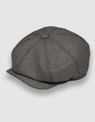 Black and White Birdseye Newsboy Cap