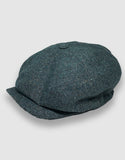 Teal Donegal Tweed Newsboy Cap