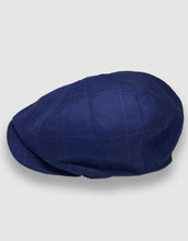 Load image into Gallery viewer, 204 Newsboy Cap, Blue Check