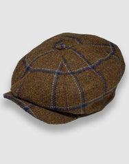 Brown Check Newsboy Cap