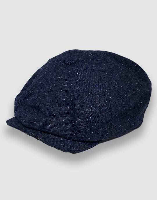 204 Newsboy Cap, Navy Donegal