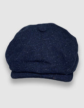 Load image into Gallery viewer, 204 Newsboy Cap, Navy Donegal