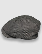 Load image into Gallery viewer, 204 Newsboy Cap, Black & White Birdseye