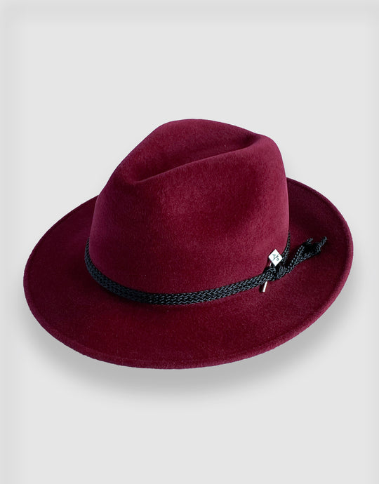 781 Rabbit Felt Trilby, Burgundy