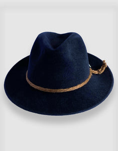 781 Rabbit Felt Trilby, Dark Navy Blue