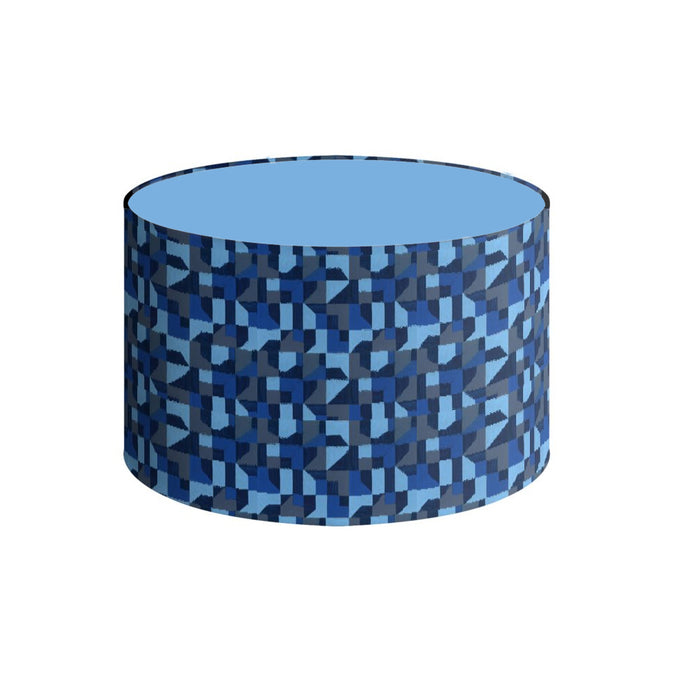 Lampshade, Blue Abstract