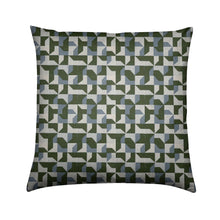 Load image into Gallery viewer, Brushed Twill Cushion, Green Abstract