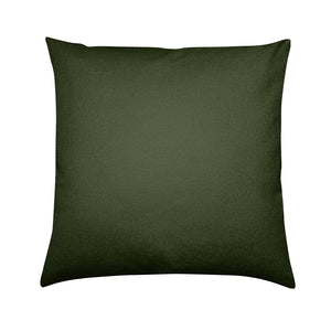 Brushed Twill Cushion, Green Abstract