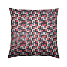 Load image into Gallery viewer, Brushed Twill Cushion, Red Abstract