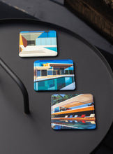 Load image into Gallery viewer, Leather Coaster, Architecture 3 Set