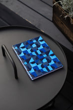 Load image into Gallery viewer, Spiral A5 Notebook, Blue Abstract