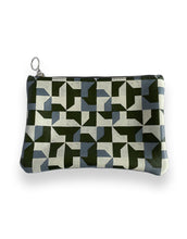 Load image into Gallery viewer, Leather Clutch Bag, Green Abstract