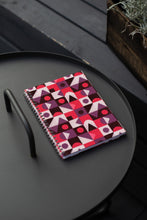 Load image into Gallery viewer, Spiral A5 Notebook, Red Abstract
