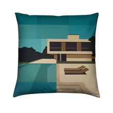 Load image into Gallery viewer, Brushed Twill Cushion, Summer House