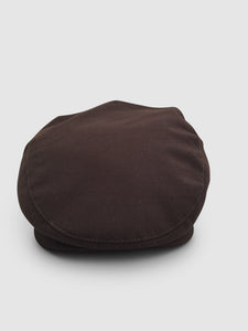 Waterproof Wool 101 Flat Cap, Brown