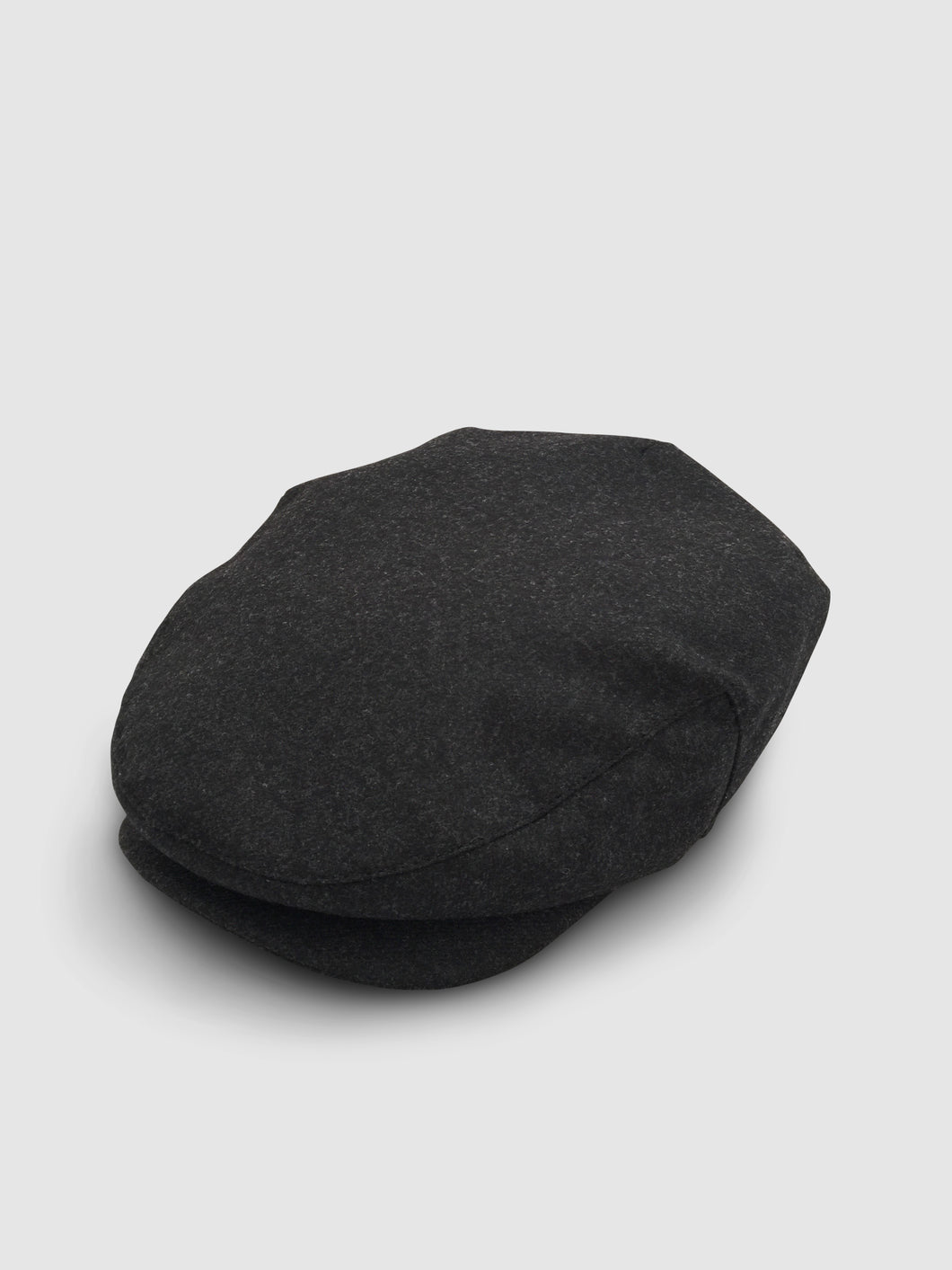 Waterproof Wool 101 Flat Cap, Grey Melange