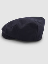 Load image into Gallery viewer, Waterproof Wool 101 Flat Cap, Navy Blue