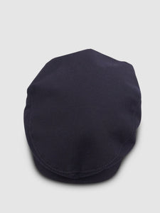 Waterproof Wool 101 Flat Cap, Navy Blue