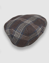 Load image into Gallery viewer, Cashmere 103 Flat Cap, Taupe Check