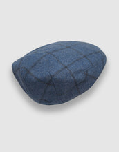 Load image into Gallery viewer, Cashmere 105 Flat Cap, Cadet Blue Stripe
