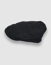 Load image into Gallery viewer, Cashmere 105 Flat Cap, Charcoal Stripe