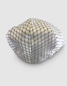 Silk 105 Flat Cap, White