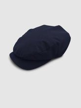 Load image into Gallery viewer, Waterproof Wool 106 Flat Cap, Navy Blue